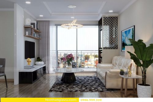 Thiết kế nội thất chung cư Gardenia tòa A3 căn 06 phong cách hiện đại