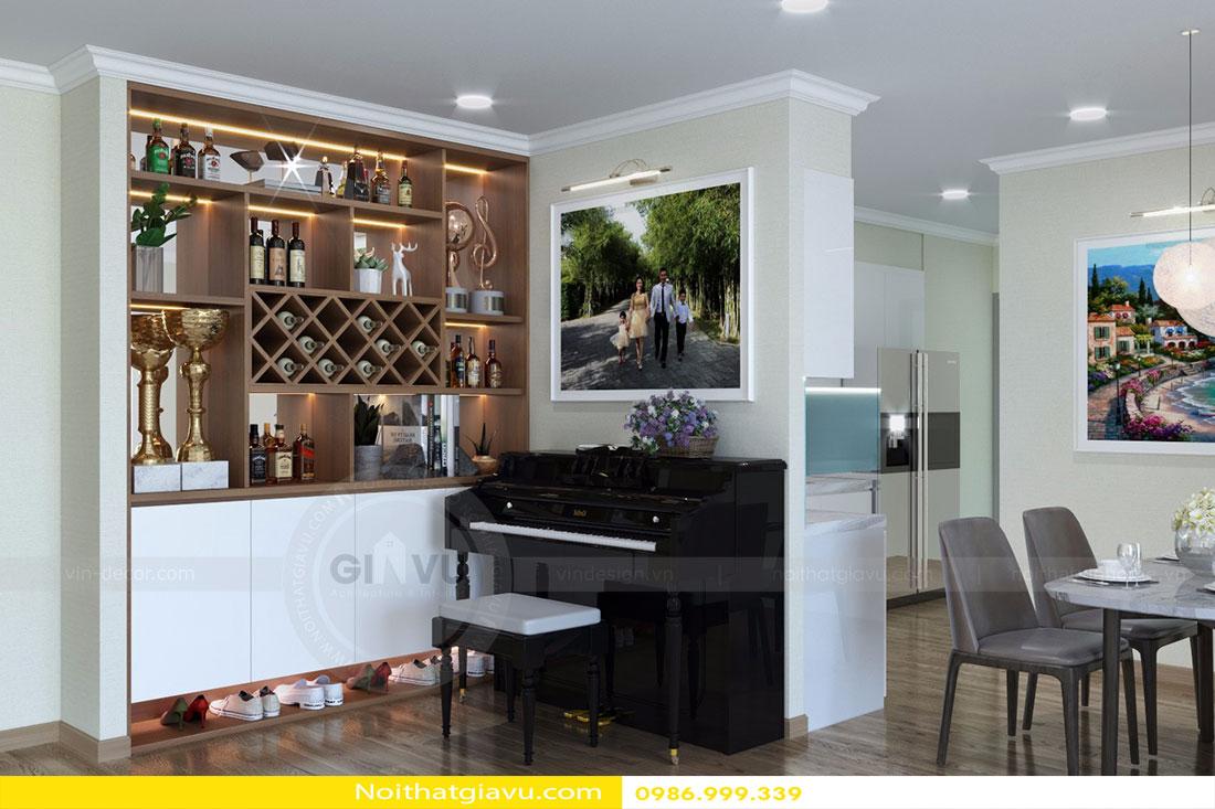 Thiết kế nội thất chung cư Gardenia tòa A3 căn 06 view 5