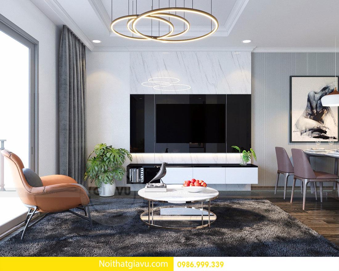 Thiết kế nội thất chung cư Mandarin Garden 2 view 2