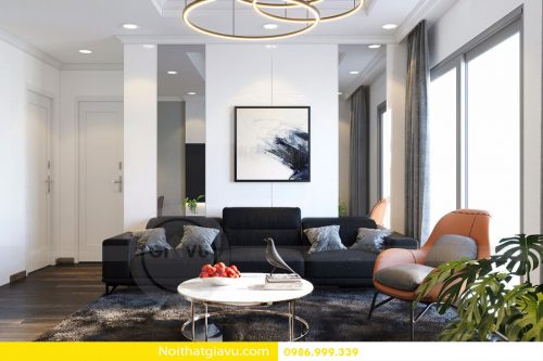 Thiết kế nội thất chung cư Mandarin Garden 2 căn 03 tòa A Chị Thu