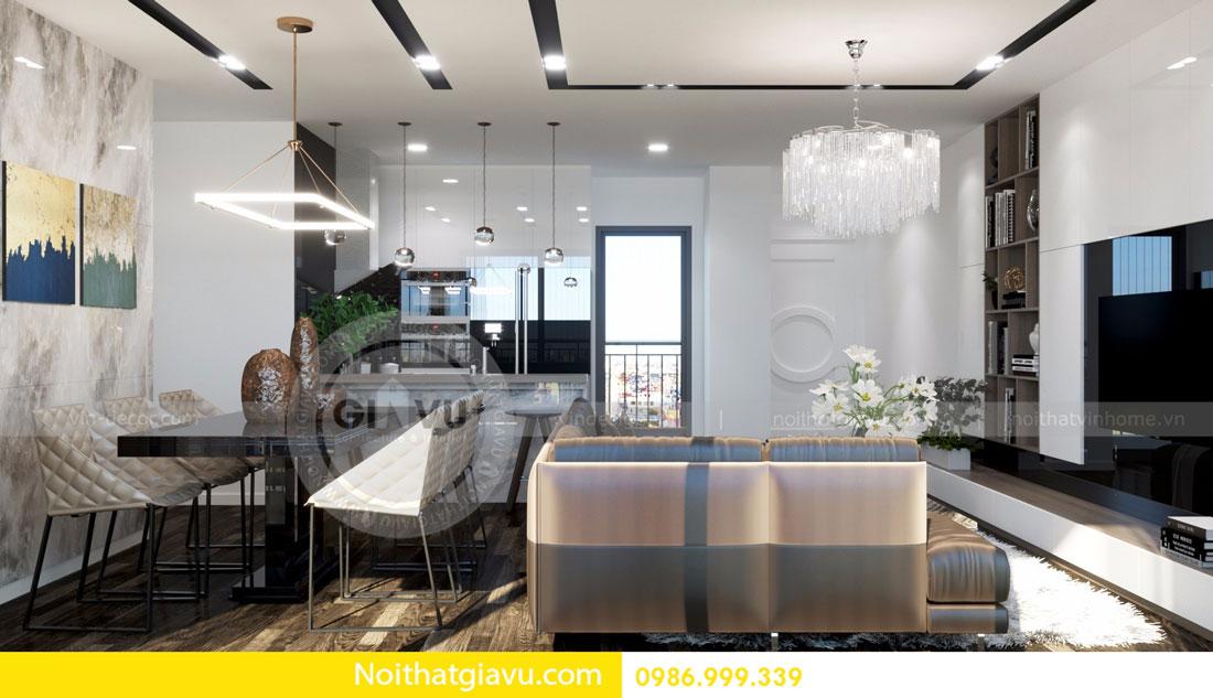 Thiết kế nội thất chung cư Vinhomes D Capitale tòa c3 căn 06 02