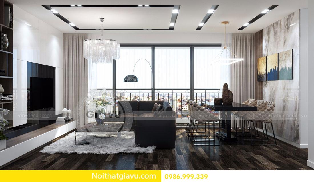 Thiết kế nội thất chung cư Vinhomes D Capitale tòa c3 căn 06 03