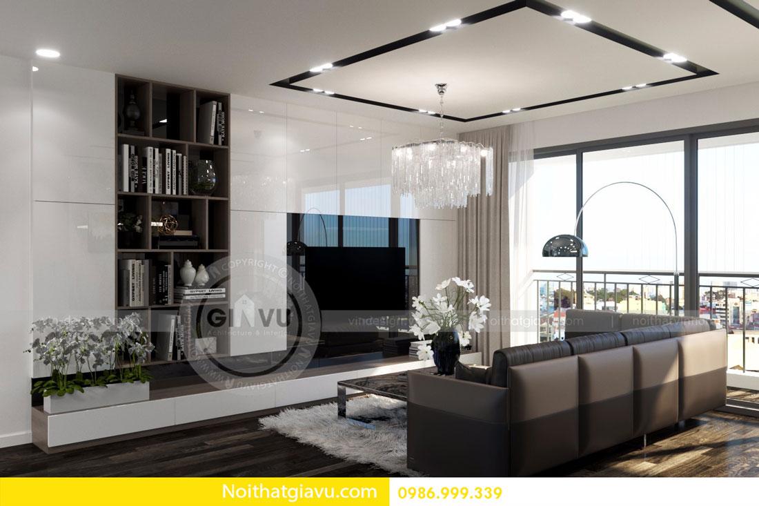 Thiết kế nội thất chung cư Vinhomes D Capitale tòa c3 căn 06 05