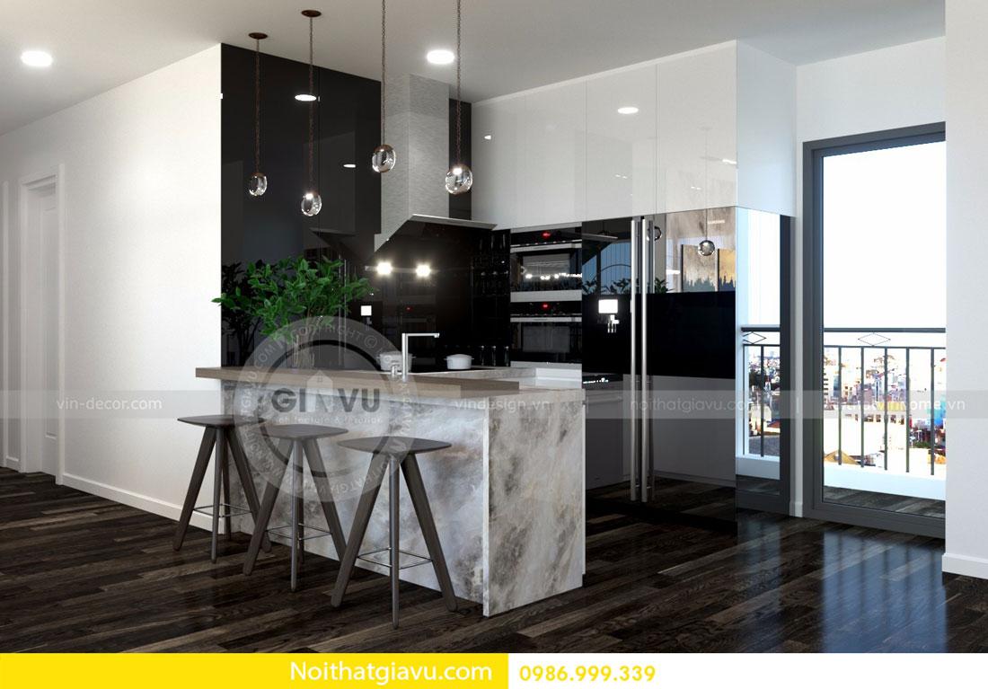 Thiết kế nội thất chung cư Vinhomes D Capitale tòa c3 căn 06 06