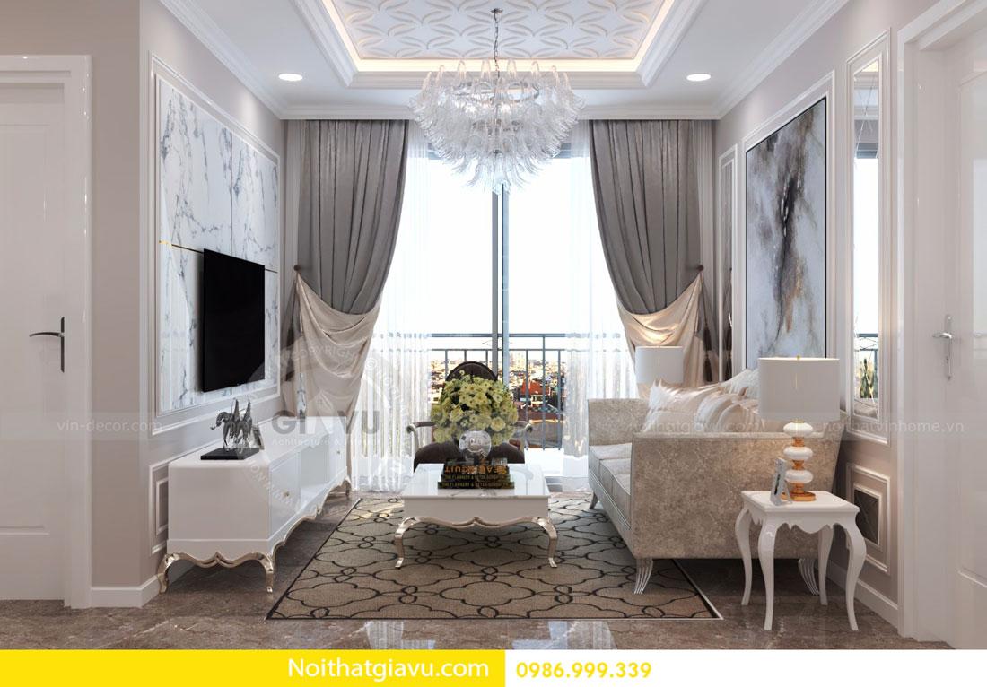 thiết kế nội thất D Capitale căn 01 tòa C6 căn hộ 2 phòng ngủ 02