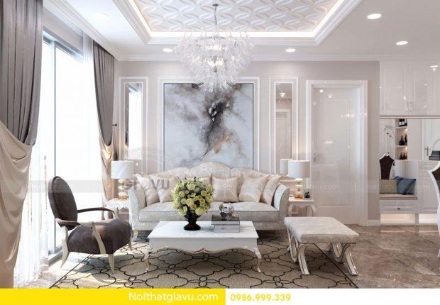 Thiết kế nội thất D Capitale căn 01 tòa C6 căn hộ 2 phòng ngủ