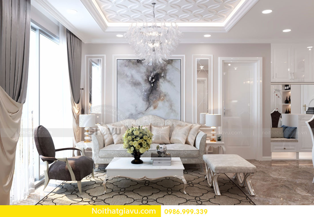 thiết kế nội thất D Capitale căn 01 tòa C6 căn hộ 2 phòng ngủ 06