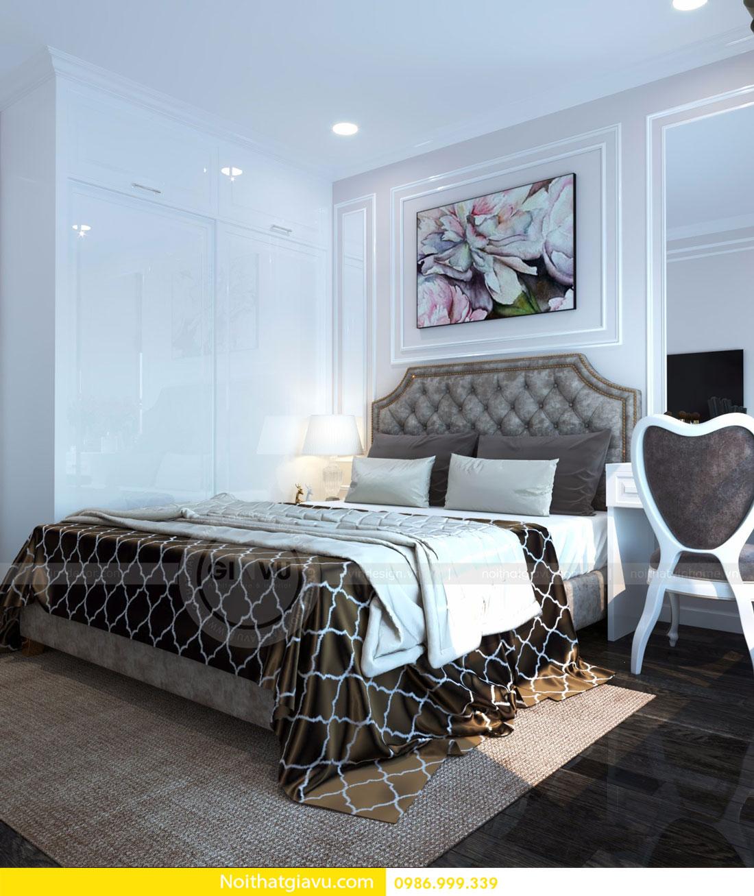 thiết kế nội thất D Capitale căn 01 tòa C6 căn hộ 2 phòng ngủ 12