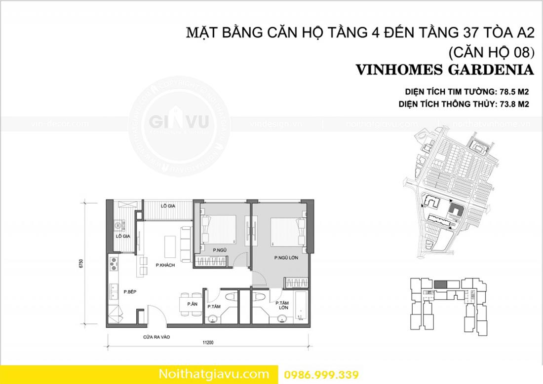 thiết kế nội thất Vinhomes Gardenia phong cách độc đáo 00