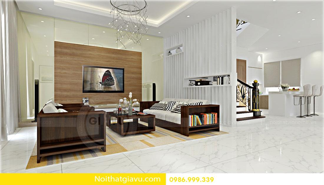 Thiết kế nội thất biệt thự Vinhomes Green Bay Mễ Trì 3