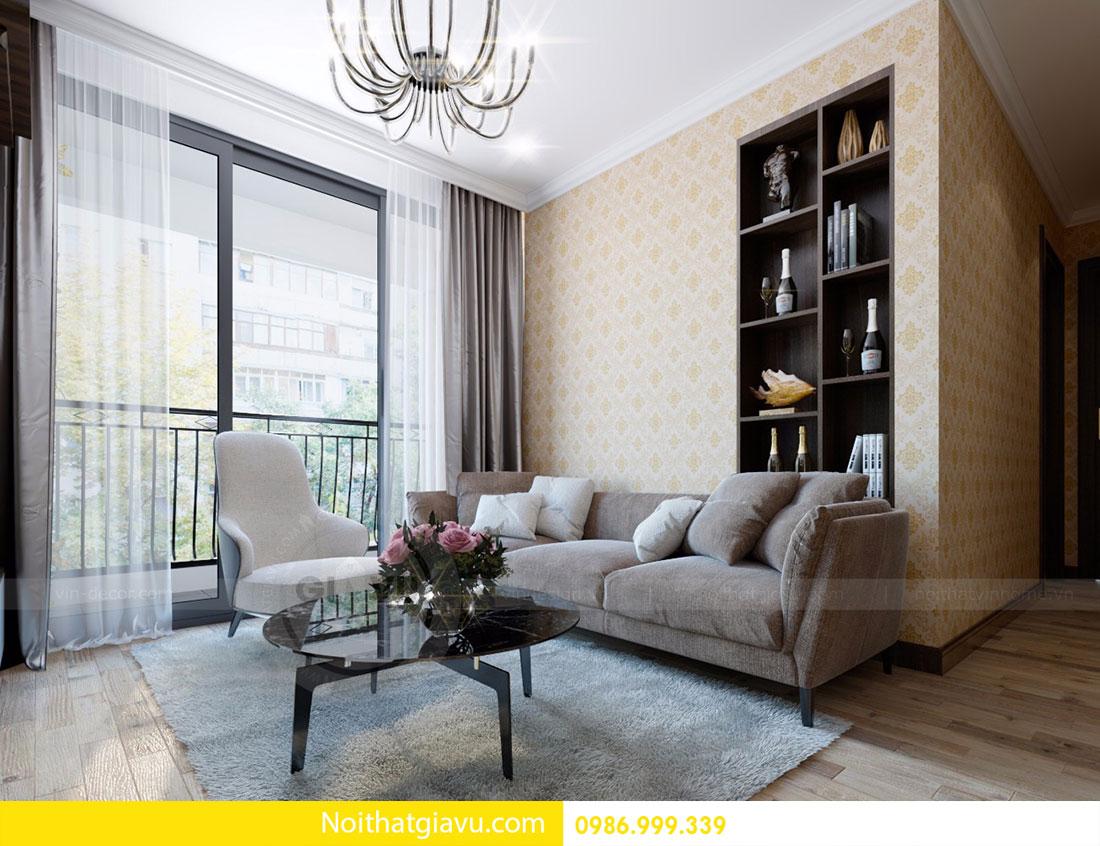 Thiết kế nội thất chung cư Gardenia 3