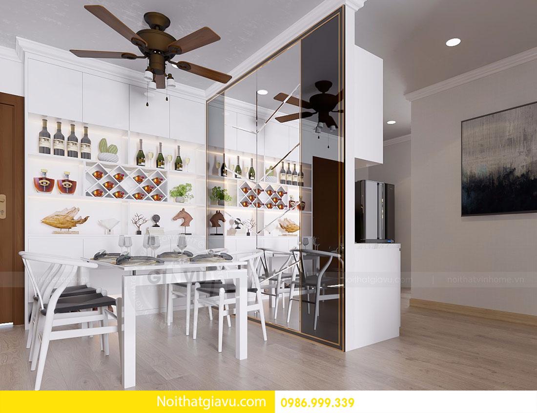 Thiết kế nội thất Gardenia căn 03 tòa A1 view 2