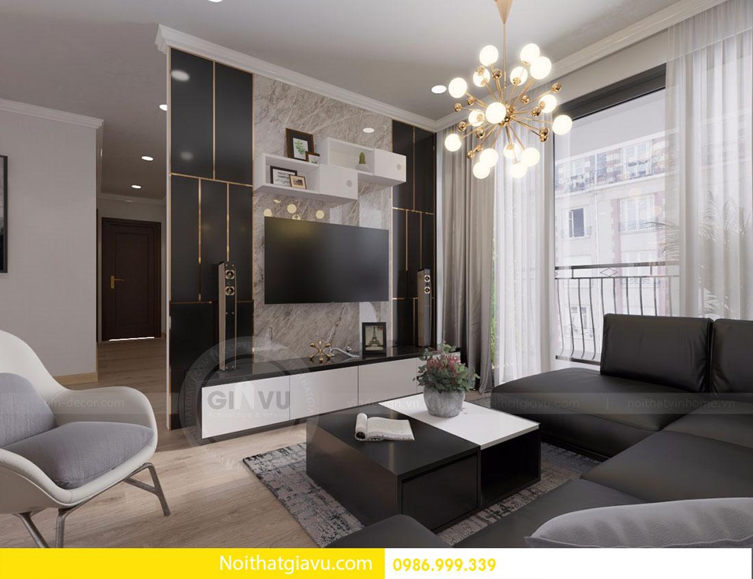 Thiết kế nội thất Gardenia căn 03 tòa A1 view 3