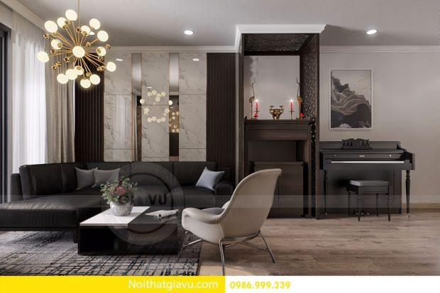 Thiết kế nội thất Gardenia căn 03 tòa A1 nhà Mr.Luân