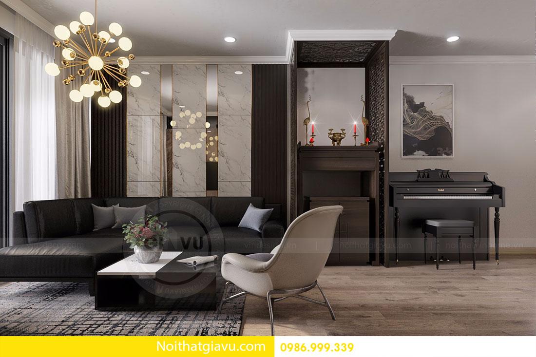 Thiết kế nội thất Gardenia căn 03 tòa A1 view 4