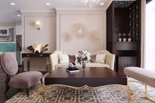 Nội thất căn hộ chung cư Green Bay phong cách Luxury