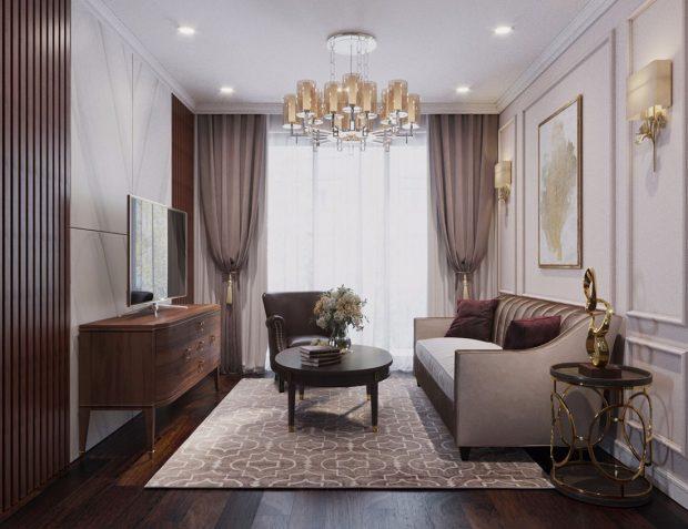 Thiết kế nội thất chung cư DCapitale tòa C1 căn 10 nhà chị Loan