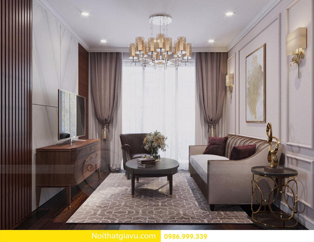 Thiết kế nội thất chung cư DCapitale tòa C1 căn 10 view 2