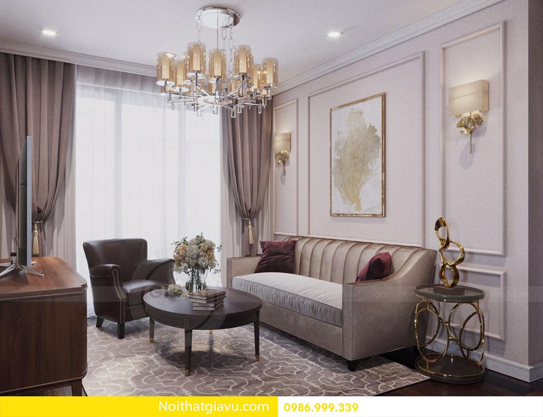 Thiết kế nội thất chung cư DCapitale tòa C1 căn 10 view 3