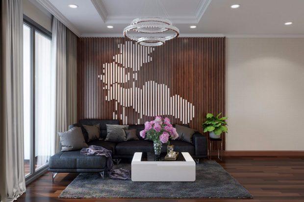 Thiết kế nội thất chung cư Vinhomes D Capitale căn 2 ngủ hiện đại