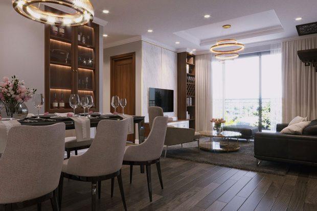 Thiết kế nội thất chung cư Vinhomes D Capitale căn 08 tòa C7