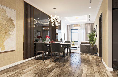 Thiết kế nội thất chung cư Sky Lake đẹp hiện đại – Lh 0986999339