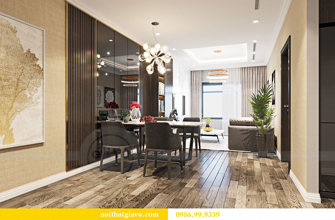 Thiết kế nội thất chung cư Sky Lake đẹp hiện đại - Lh 0986999339 view 2