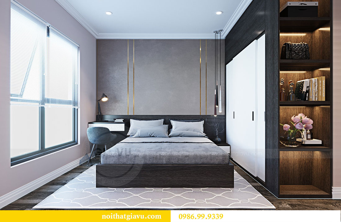 Thiết kế nội thất chung cư Sky Lake đẹp hiện đại - Lh 0986999339 view 7