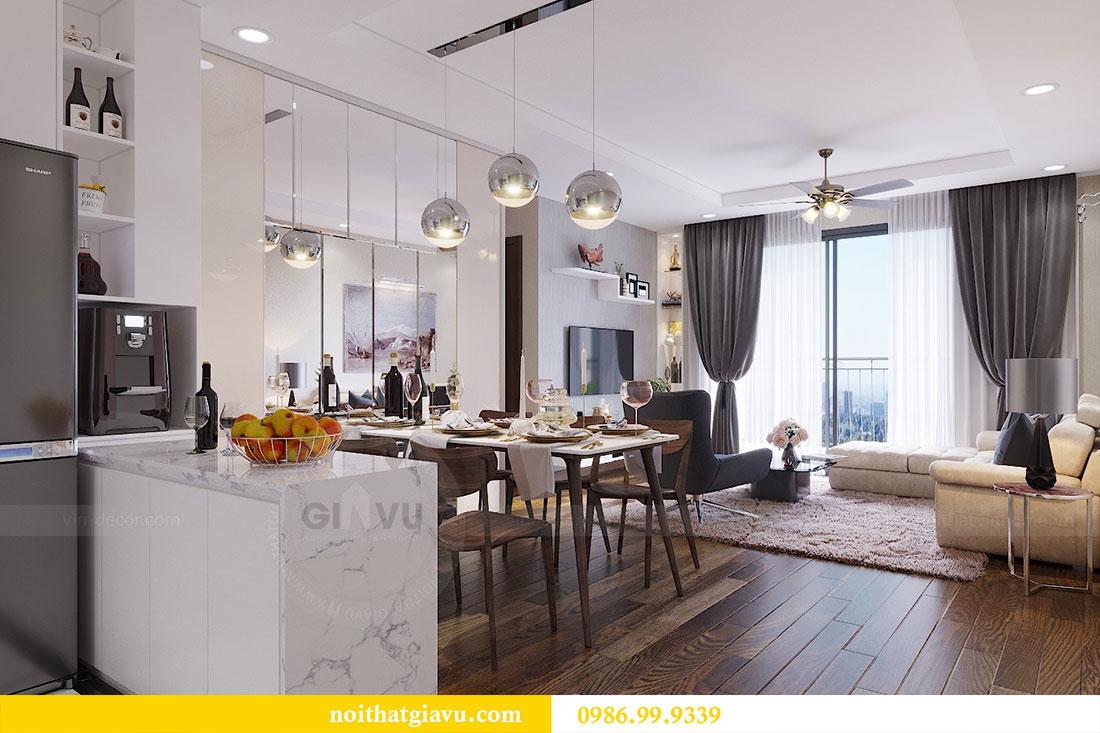Thiết kế thi công nội thất chung cư Dcapitale căn 3 ngủ 3