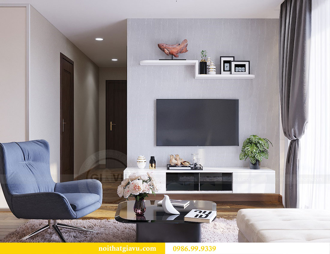 Thiết kế thi công nội thất chung cư Dcapitale căn 3 ngủ 4