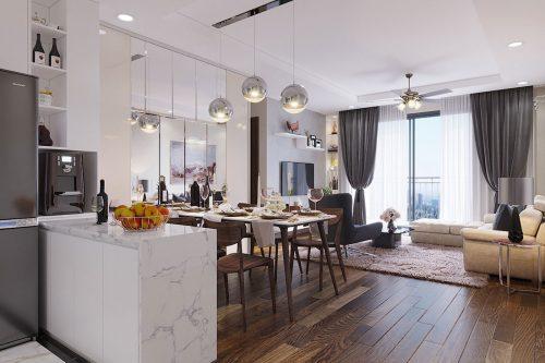 Thiết kế thi công nội thất chung cư Dcapitale căn 3 ngủ