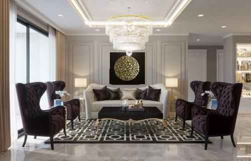 Thiết kế nội thất chung cư Metropolis căn 07 tòa M1