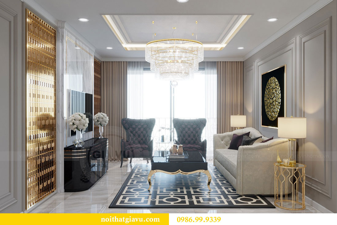 Thiết kế nội thất chung cư Metropolis căn 07 tòa M1 view 4