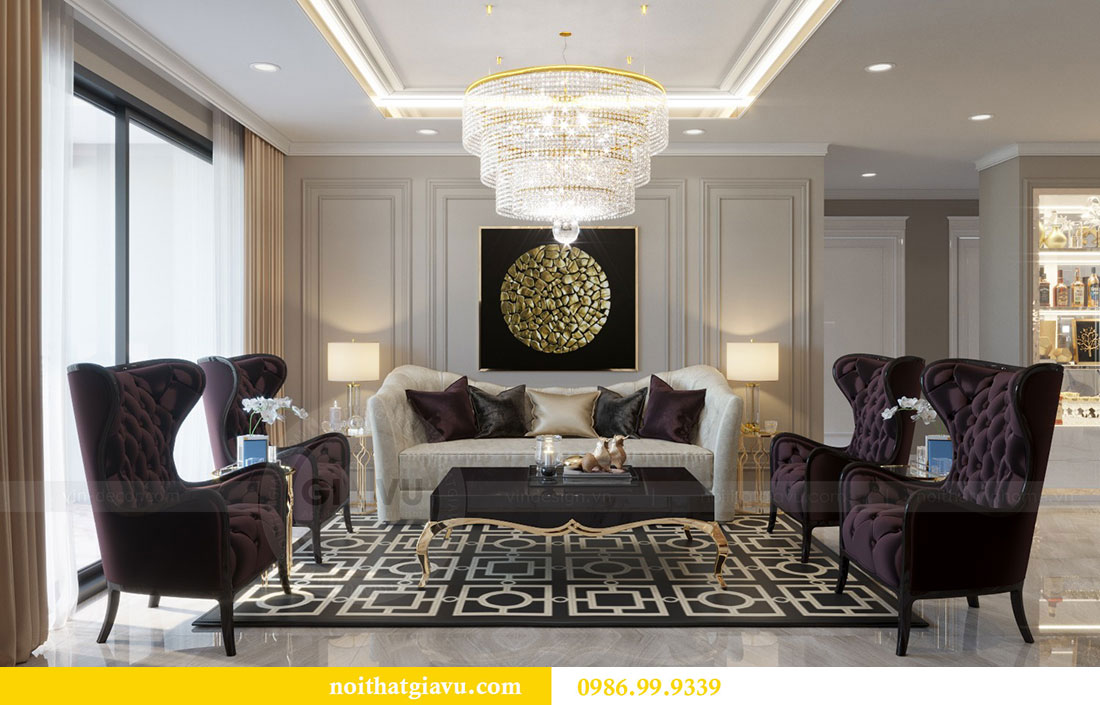 Thiết kế nội thất chung cư Metropolis căn 07 tòa M1 view 5
