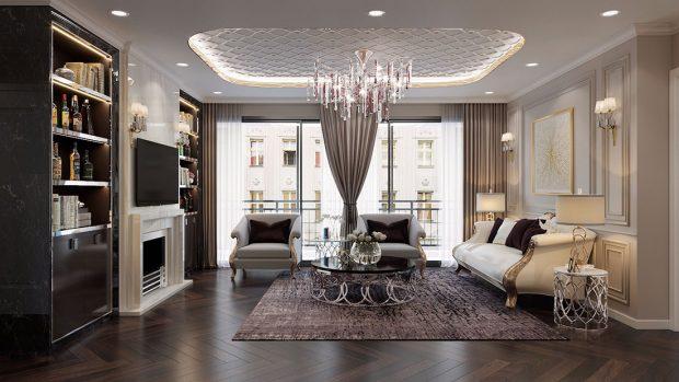 Thiết kế nội thất Vinhomes Dcapitale căn 04 tòa C3 – Anh Quân