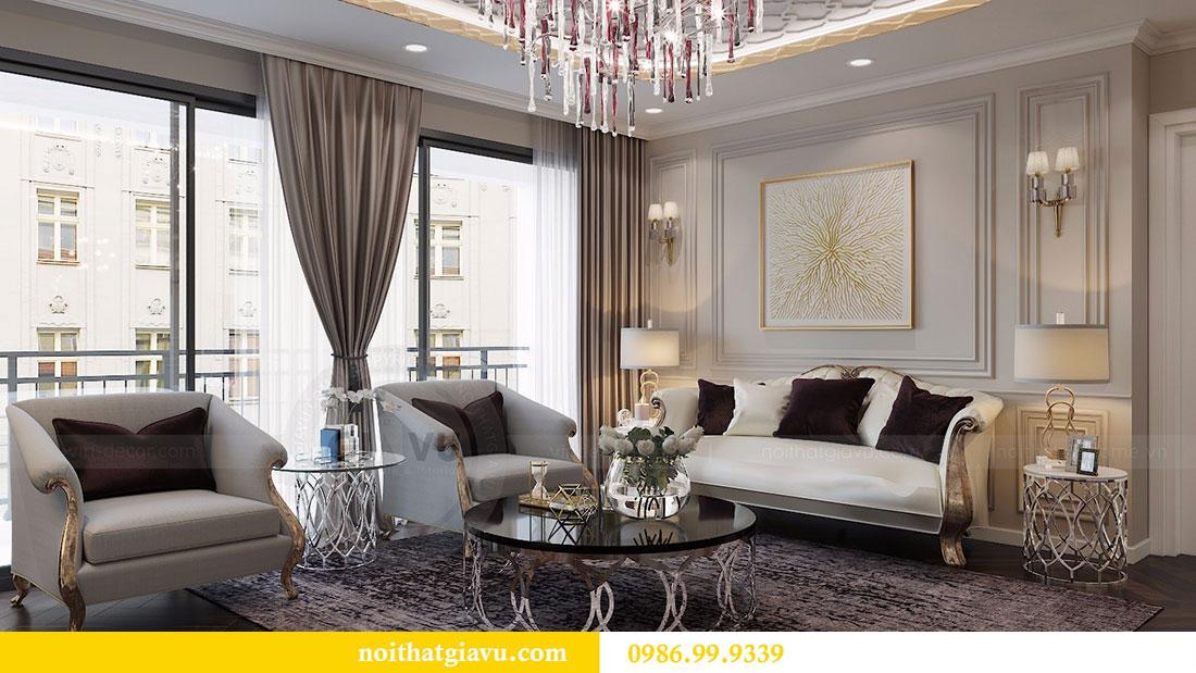 Thiết kế nội thất Vinhomes Dcapitale căn 04 tòa C3 view 6