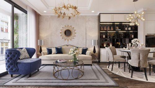 Thiết kế nội thất Vinhomes Green Bay Mễ Trì – Lh 0986999339