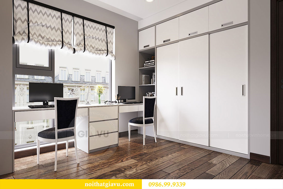 Thiết kế nội thất chung cư Sun Grand City căn 08 tòa C1 - chị Thoa 12