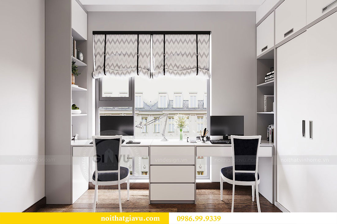 Thiết kế nội thất chung cư Sun Grand City căn 08 tòa C1 - chị Thoa 13