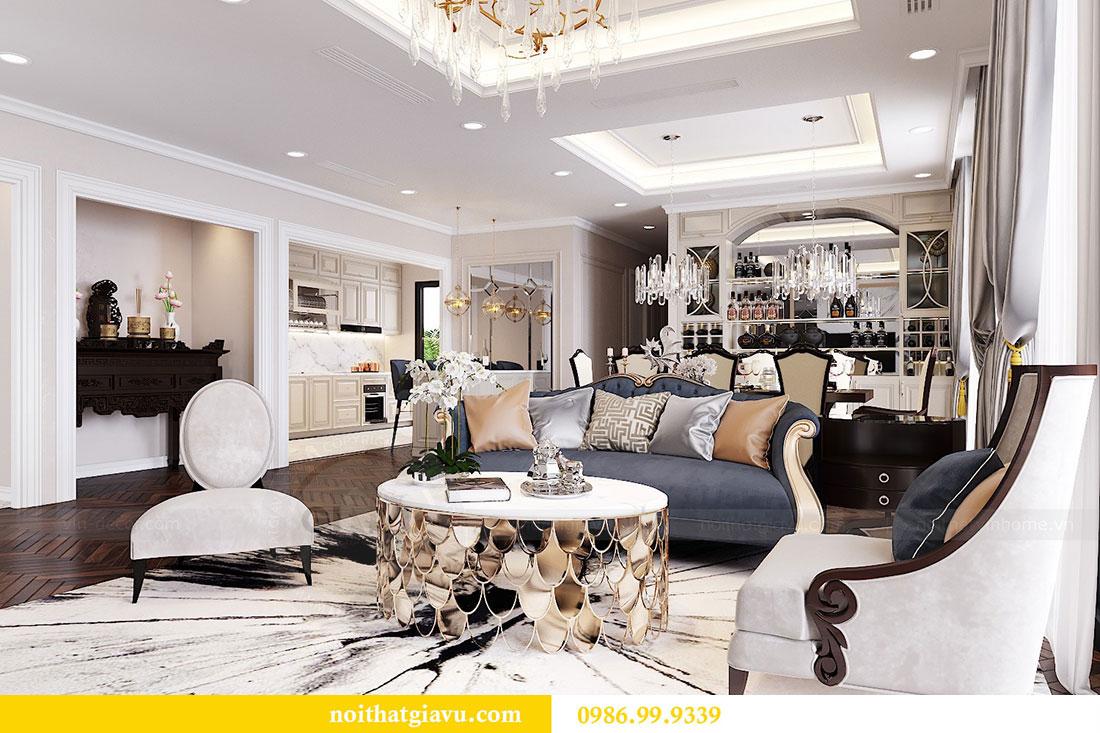 Thiết kế nội thất chung cư Vinhomes D capitale tòa C6 - Chị Nhi 1