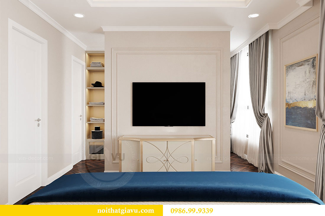 Thiết kế nội thất chung cư Vinhomes D capitale tòa C6 - Chị Nhi 11