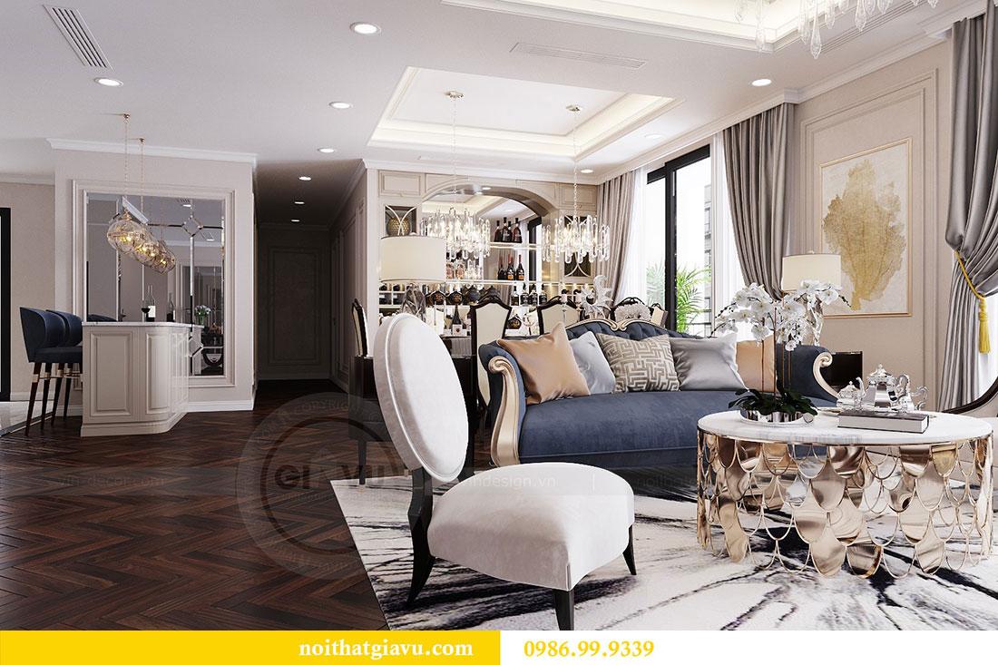 Thiết kế nội thất chung cư Vinhomes D capitale tòa C6 - Chị Nhi 2