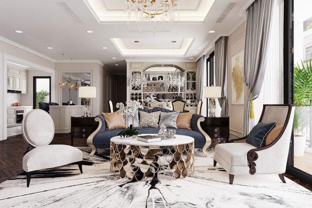 Thiết kế nội thất chung cư Vinhomes D capitale tòa C6 căn 11 – 12 chị Nhi