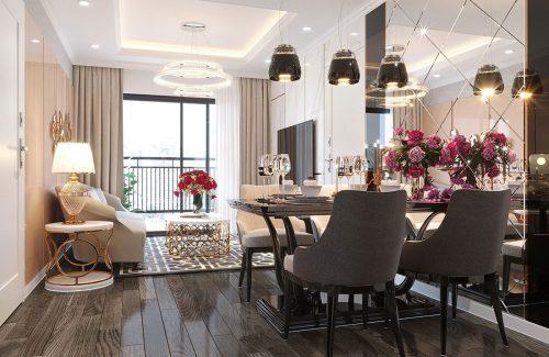 Thiết kế nội thất Vinhomes D Capitale tòa C1 căn 07 – Anh Chung
