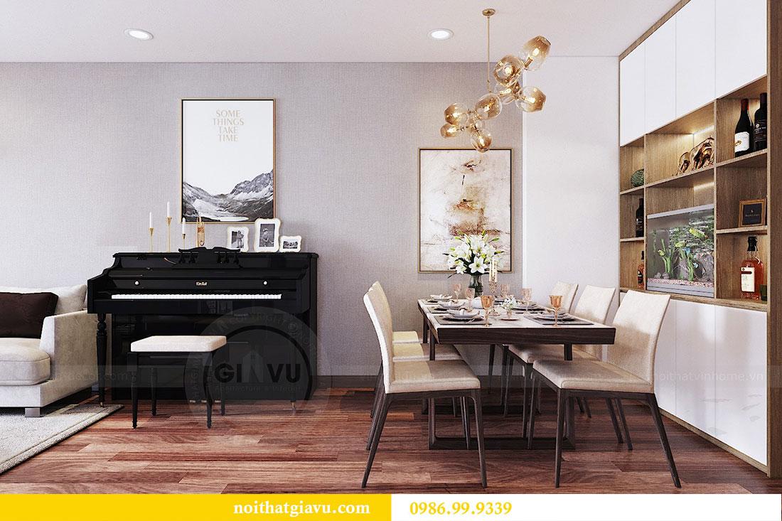 Thiết kế nội thất chung cư Ngoại Giao Đoàn tòa N01-T5 căn 05 chị Hoa 3