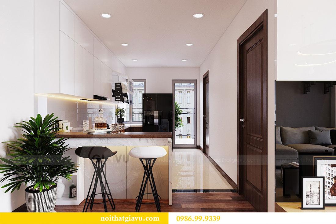 Thiết kế nội thất chung cư Ngoại Giao Đoàn tòa N01-T5 căn 05 chị Hoa 4