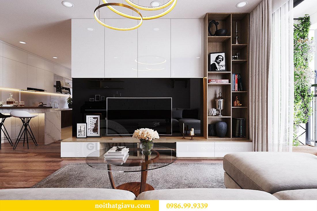 Thiết kế nội thất chung cư Ngoại Giao Đoàn tòa N01-T5 căn 05 chị Hoa 6