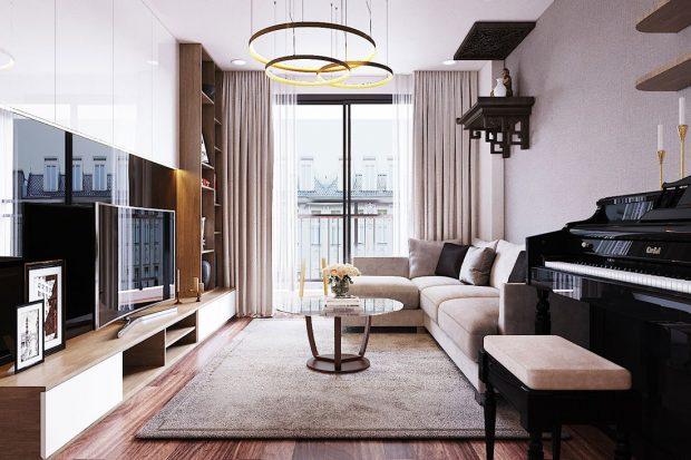 Thiết kế nội thất chung cư Ngoại Giao Đoàn tòa N01-T5 căn 05 chị Hoa