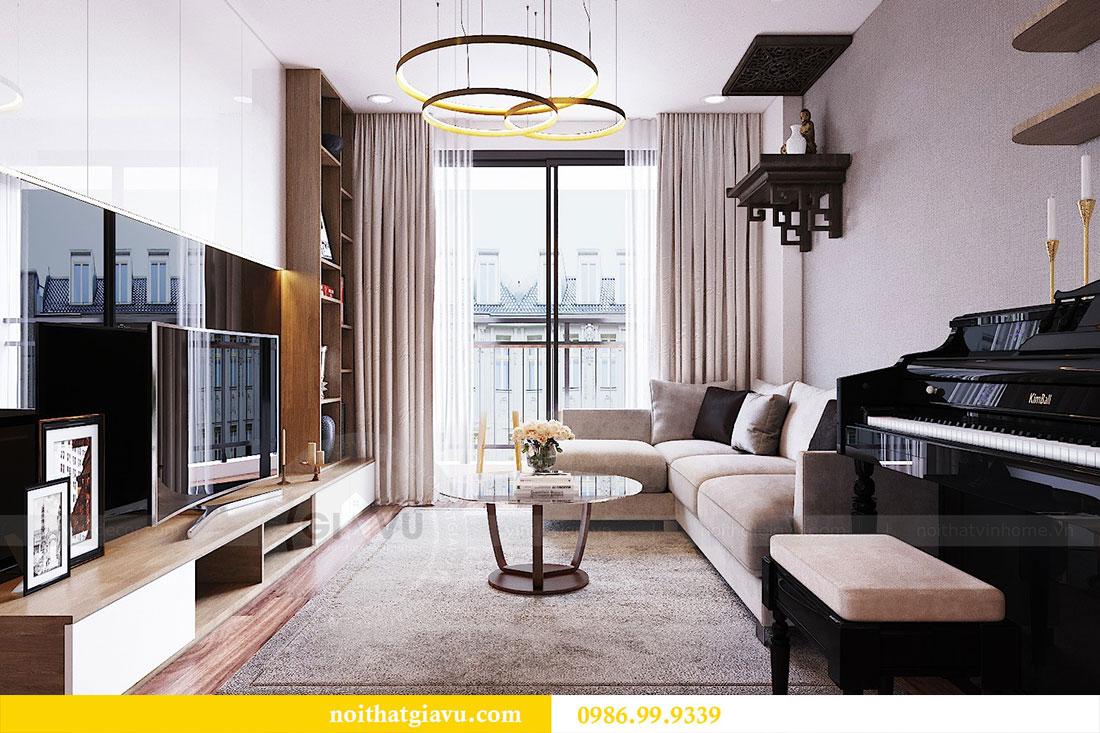 Thiết kế nội thất chung cư Ngoại Giao Đoàn tòa N01-T5 căn 05 chị Hoa 7