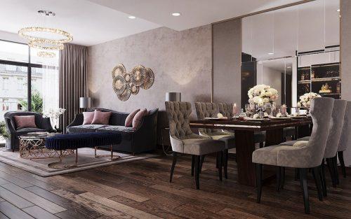 Thiết kế nội thất chung cư Sun Grand City căn 08 tòa C1 – chị Thoa